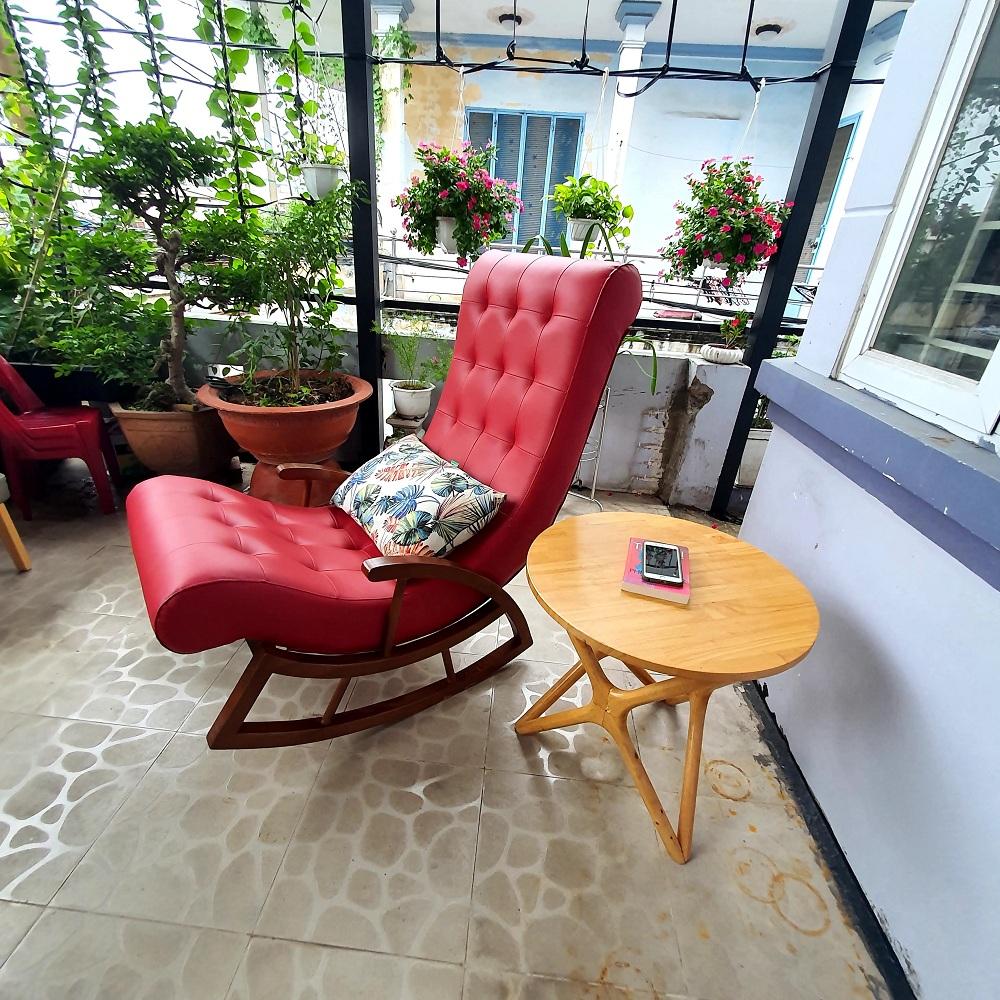 Ghế thư giãn - ghế bập bênh ( Đỏ)