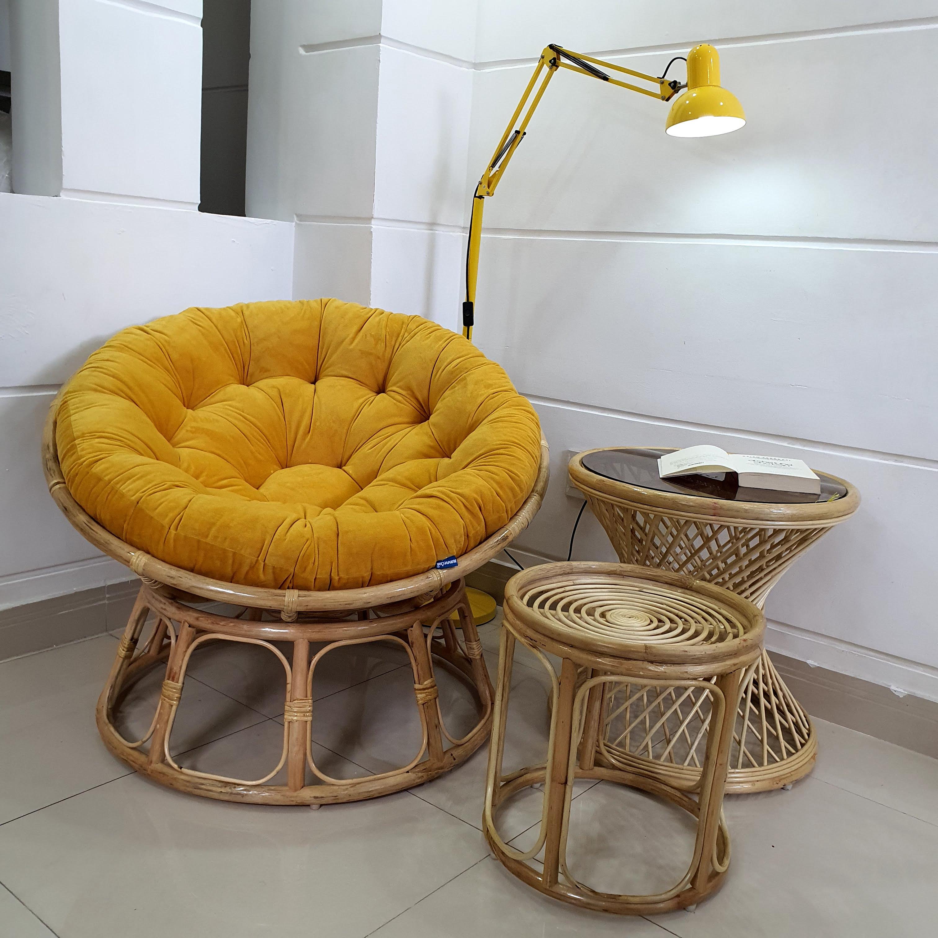 ghế papasan 1m ( vàng sậm)