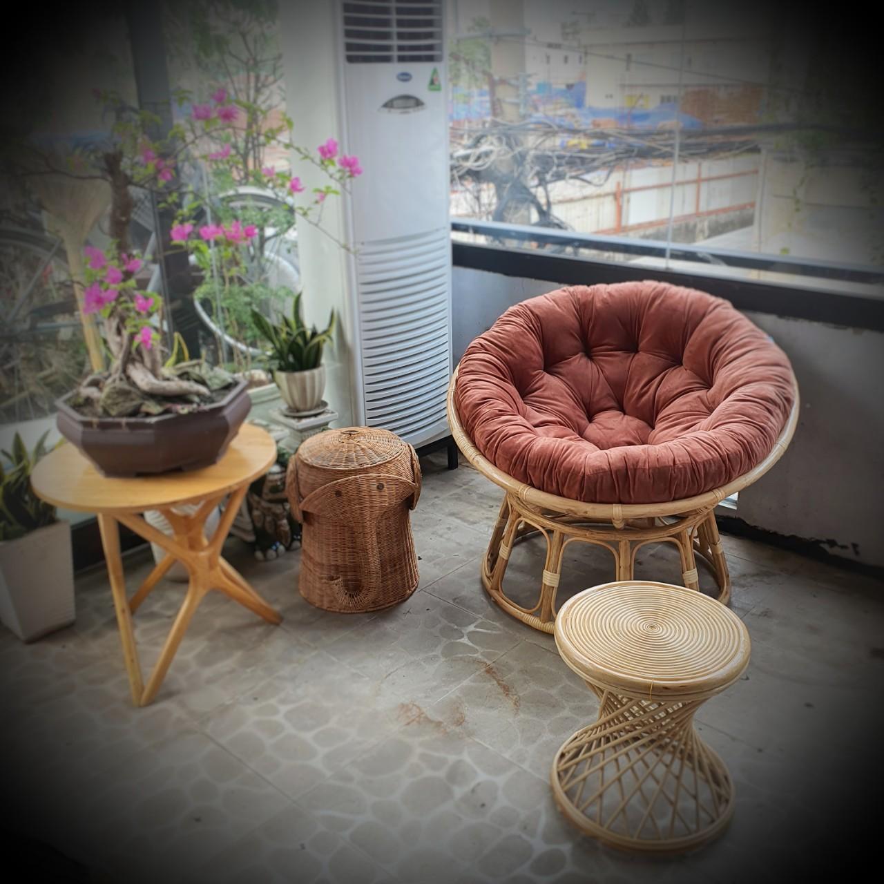 Bộ ghế papasan ( bao gồm đôn ghế + sọt đựng đồ)