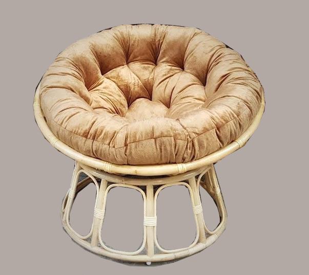 Ghế papasan size 1m ( nệm nhung màu bò)